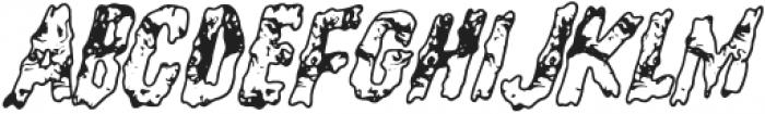 Flying Sausage Regular otf (400) Font UPPERCASE