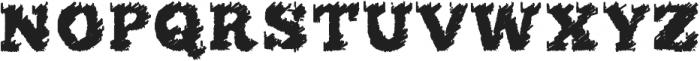 flared Regular ttf (400) Font UPPERCASE