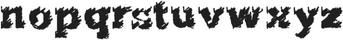 flared Regular ttf (400) Font LOWERCASE