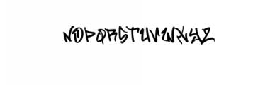 Flim Flom.ttf Font UPPERCASE