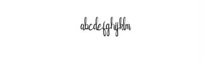 FlowerAdaline.otf Font LOWERCASE