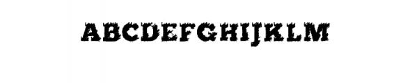 flared.ttf Font UPPERCASE