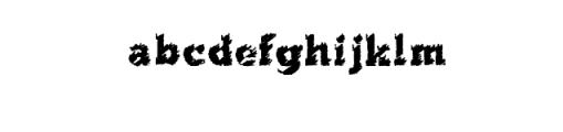 flared.ttf Font LOWERCASE