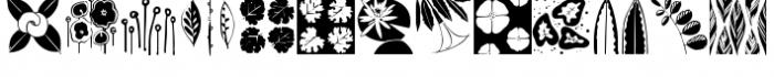 Flower & Leaf Borders Font UPPERCASE