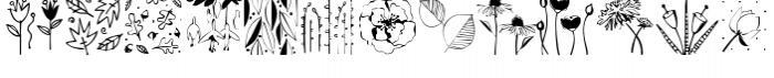 Flower & Leaf Borders Font LOWERCASE