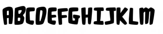 Fluffy Slacks BTN Bold Font UPPERCASE