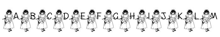 FL Flower Girl Font UPPERCASE