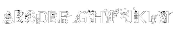 FL Sesame Street Font LOWERCASE