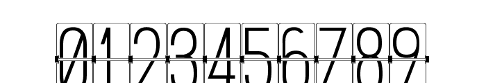 FLIPclockWhite Font OTHER CHARS