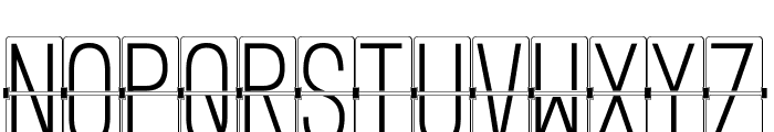 FLIPclockWhite Font UPPERCASE