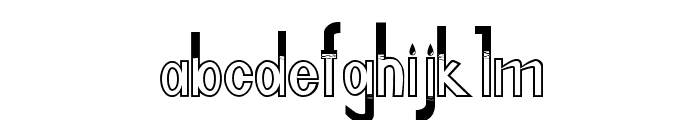 FLOOD WATER NORMAL Font LOWERCASE