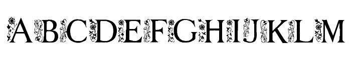 FLOWER GARDEN Font UPPERCASE