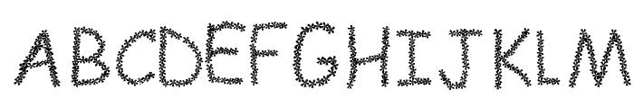 FLOWERcomic Font UPPERCASE