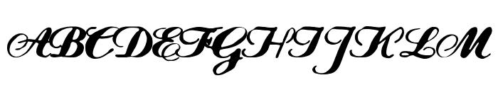 FLW Script Font UPPERCASE