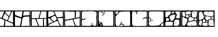 Flagstones Font LOWERCASE