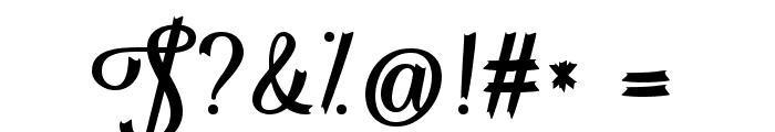 Flame Fetish Regular Font OTHER CHARS