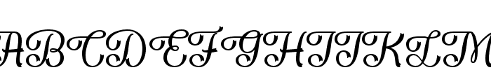 Flame Fetish Regular Font UPPERCASE