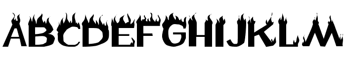 Flame Font UPPERCASE