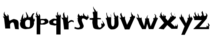 Flame Font LOWERCASE