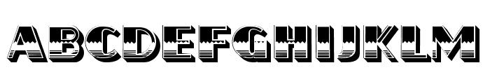 Flamed Regular Font UPPERCASE