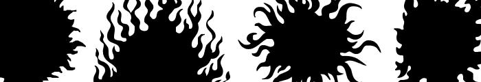 Flaming Stars  Splatters Font UPPERCASE