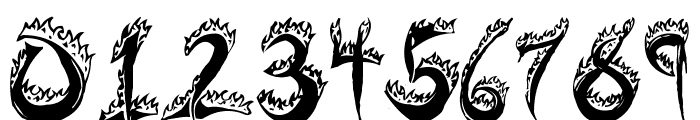 Flaming Tears Font OTHER CHARS