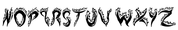 Flaming Tears Font UPPERCASE