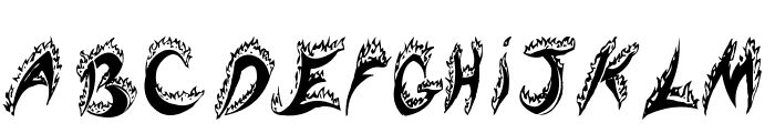 Flaming Tears Font LOWERCASE