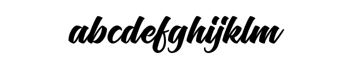 Flaming Font LOWERCASE