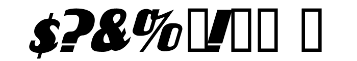 FlandersRide Italic Font OTHER CHARS
