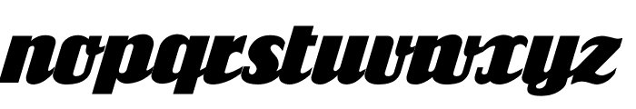 FlandersRide Italic Font LOWERCASE