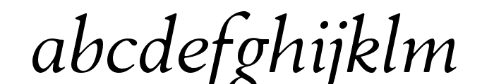 FlankerGriffo-Italic Font LOWERCASE