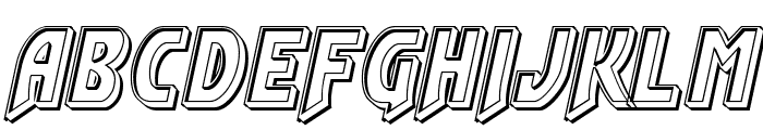 Flash Rogers Engraved Font UPPERCASE