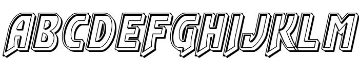 Flash Rogers Engraved Font LOWERCASE