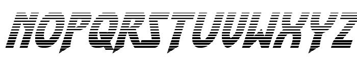 Flash Rogers Gradient Italic Font UPPERCASE