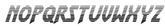 Flash Rogers Gradient Italic Font LOWERCASE