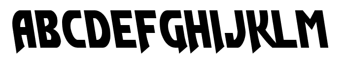 Flash Rogers Leftalic Font UPPERCASE