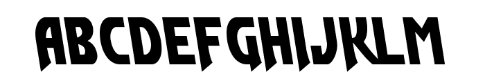Flash Rogers Leftalic Font LOWERCASE