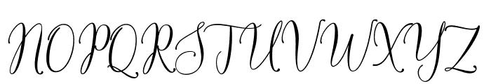 FlashScriptDEMO Font UPPERCASE