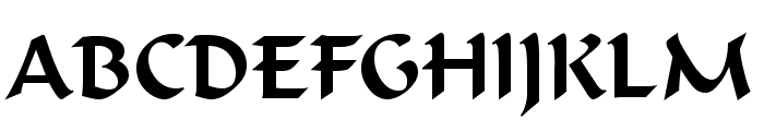 Flat Brush Normal Font UPPERCASE