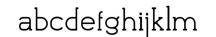 Flatform Light Font LOWERCASE
