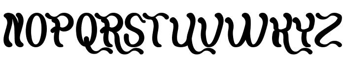 Flattered Bold Font UPPERCASE
