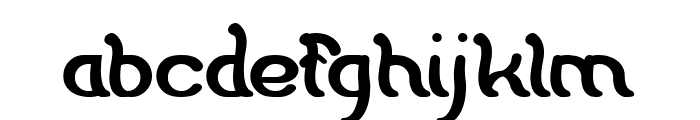 Flattered Bold Font LOWERCASE