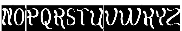 Flattered-Inverse Font UPPERCASE