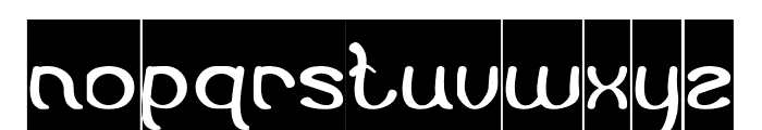 Flattered-Inverse Font LOWERCASE