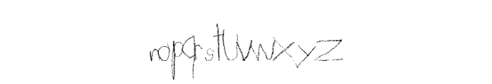 FlavoredCrayons Font LOWERCASE