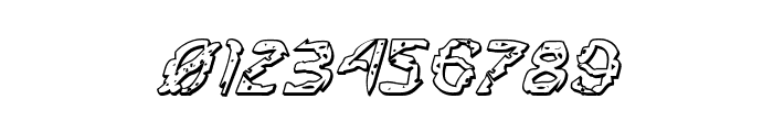 Flesh-Eating Comic 3D Italic Font OTHER CHARS