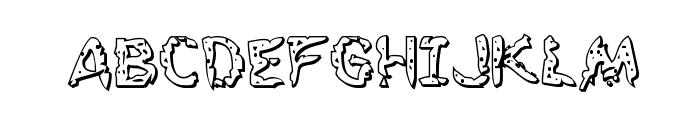 Flesh-Eating Comic 3D Regular Font UPPERCASE