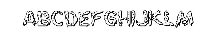 Flesh-Eating Comic 3D Regular Font LOWERCASE
