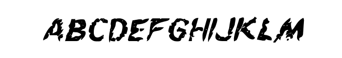Flesh-Eating Comic Bold Italic Font LOWERCASE